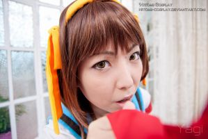 What did you say Kyon? by Hitomi-Cosplay