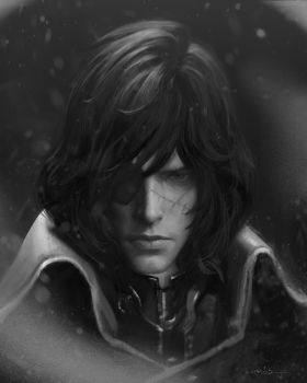 Harlock Portrait by chris-anyma