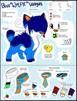 .:CO:. Blue ''Wolfie'' Vargas Reference Sheet by Sliced-Penguin
