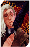 Commission: Lavellan tarot card by RedlyJester