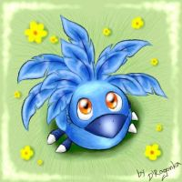 Little blue Chocobo by DRagonka