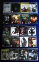 My Collection of Games Part 1: PS3 by OpheliaWasMyName
