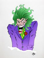 Joker Gone Mad - Colored by TheJokesOnYou