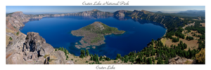 Crater Lake Panorama by real-creative