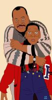 Carl and Urkel by arosenlund