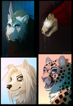 Headshot Commissions batch 1 by Valixy