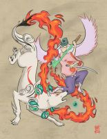 Ammy vs Wakka: Okami Contest by KyleLadd