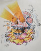 Sugar Skull Tattoo Design by Frosttattoo