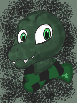 Slytherin Snake Icon by Count-Toon