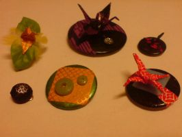 FOR SALE: More origami jewelry by cayra