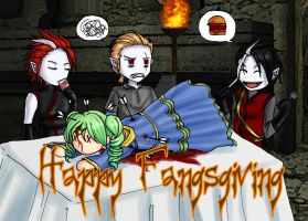 Happy Fangsgiving by AngelERenoir