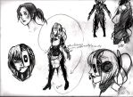 GLaDOS Ref + Chell by sarikochan