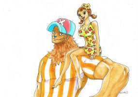one piece, shoulder sitting by heivais