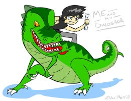 Me and my Dinosaur Fan Art by AniMerrill