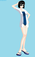 Elizabeth Murakami in a swimsuit with sunglasses 2 by ShugoJess0313