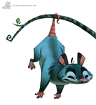 Daily Painting 774. Opossum by Cryptid-Creations