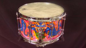027 Dragon custom snare drum by InVistaArts
