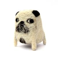 Jeremy Needlefelted Pug by Poopycakes-makes