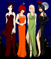 .:COLLAB:DONE:.Seductive ladies by doris4u