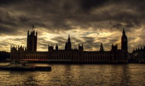 Black Clouds over London by Serjia