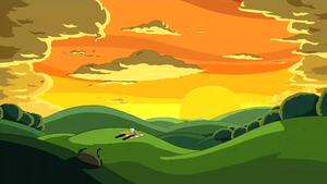 Sunset in the Land of Ooo by fullerenedream