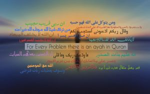 For Problems there is an ayah in Quran by hasanaraib