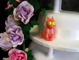 Wedding Cake With Simpsons by elyobkram