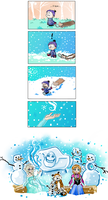 Calvin and Hobbes' Frozen Wish by Thinston