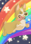 Rainbow Dog by elementaldragonsword