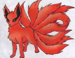 Kyuubi the nine tailed fox by littlekittyfox