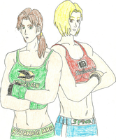 Yuri and Blue Mary MMA Version by BlueWolfRanger95