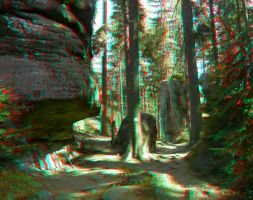 Through the Gorge 3D Anaglyph by yellowishhaze