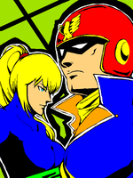 Falcon and Samus by s-azma