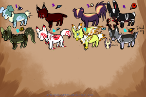 30 points adoptables by creative-adoptions