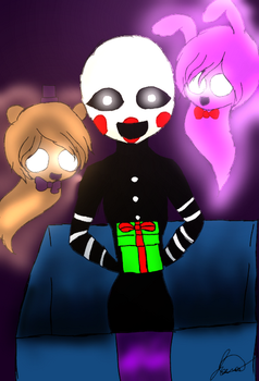FNAF christmas (speedpaint) by Cherrypastries