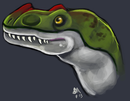 Happy Ceratosaur Doodle by Blairaptor