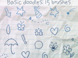 Basic Doodles Brushes by ibeliever