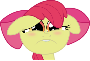 Sad Applebloom by X-Discord-X