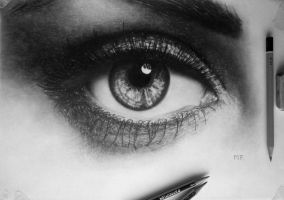 Exercising Eye (Drawing) by DesignerMF