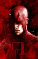 Daredevil Cover by LeonardoEnrique