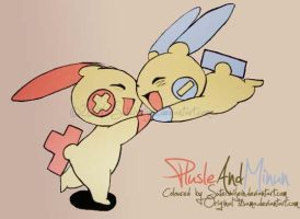 plusle and minun by SuteishiiJein
