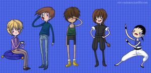 Gundam Wing AT Chibis ~ by Chama