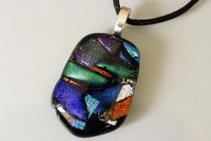 Multi color Glass Dichroic Pendant by Dimolicious