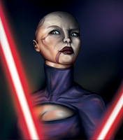 Clone Wars Portraits: Assaj Ventress by PACMANFIRE
