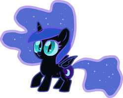 5 year old Nightmare Moon by Nutty-Nutzis