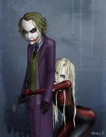 Joker and Harley Quinn by nastynoser