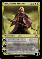 Urza, Master Artificer - Card by drbjrart