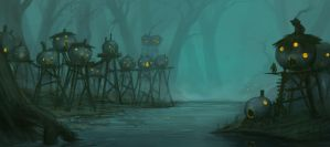 SwampTown by corndoggy