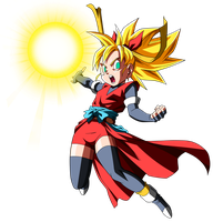 Dragon Ball HEROES= Saiyan Heroine-Note by Krizeii