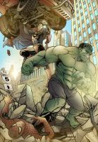 Superman vs Hulk by Encircle-and-Sorrow